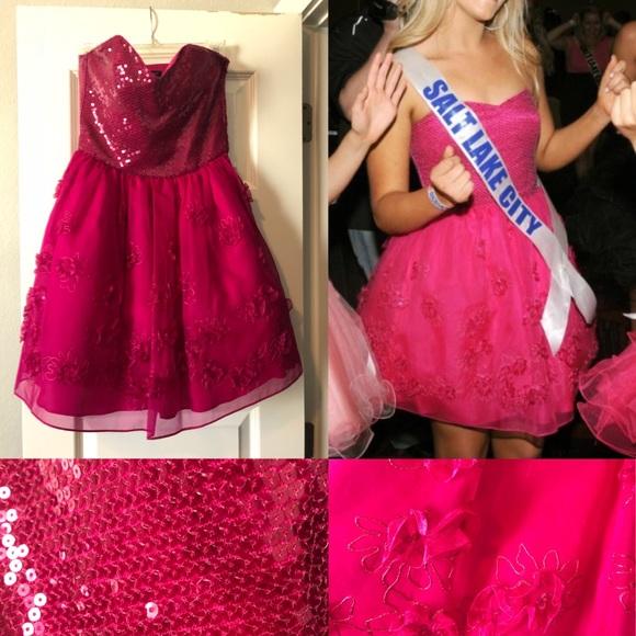 Betsey Johnson Dresses & Skirts | Betsey Johnson Hot Pink Cocktail ...
